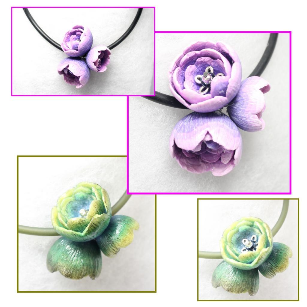 Collier 3 fleurs